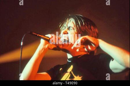 MARK OWEN UK cantante pop circa 1996 Immagini Stock