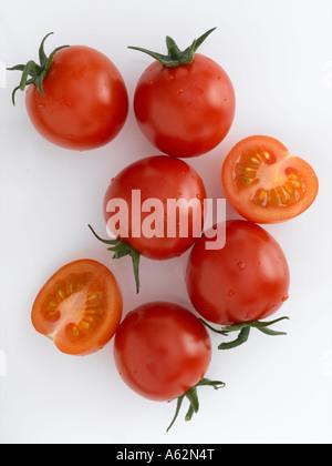 Pomodori di ciliegia Immagini Stock