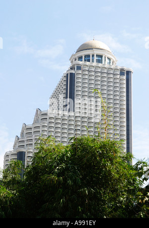 Architettura Disstinctive di Lebua at State Tower, i migliori hotel di lusso a Bangkok, Tailandia, Immagini Stock