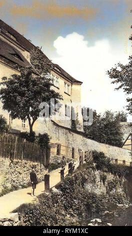 Schloss Klippenstein, 1906 Landkreis Bautzen, Radeberg, am Schloß, Germania Immagini Stock