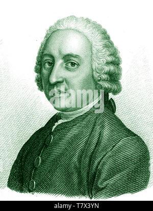 THÉODORE TRONCHIN (1709-1781) medico ginevrino Immagini Stock