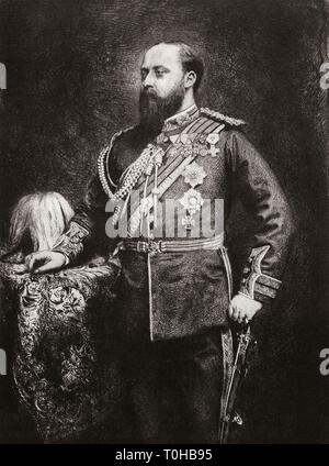 Re del Regno Unito e Domini britannici Edward Principe di Galles Immagini Stock