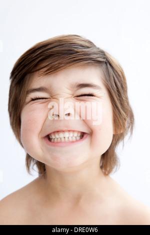 Ritratto di un sorridente ragazzino Immagini Stock