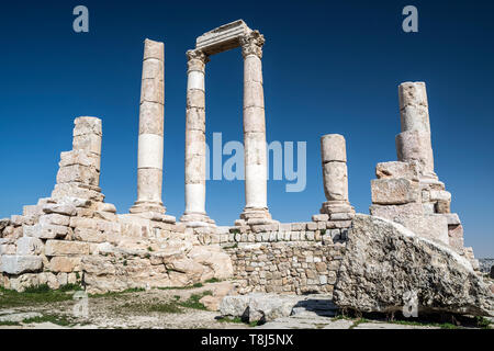 Tempio di Ercole, Amman, Giordania Immagini Stock