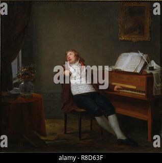 Ritratto del pianista e compositore Johann Ladislaus Dussek (1760-1812), 1795. Presenti nella collezione del Royal College of Music di Londra . Immagini Stock