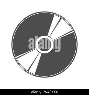 Semplice piatto icona del disco per la progettazione e la decorazione. Immagini Stock