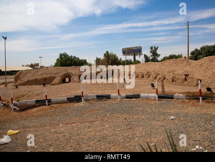 Vecchie mura della città, Stato di Khartoum, Khartoum, Sudan Immagini Stock
