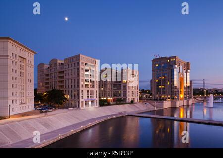 France, Languedoc-Roussillon, dipartimento di Herault, Montpellier, Hotel de Regione, Assemblea regionale degli edifici Immagini Stock