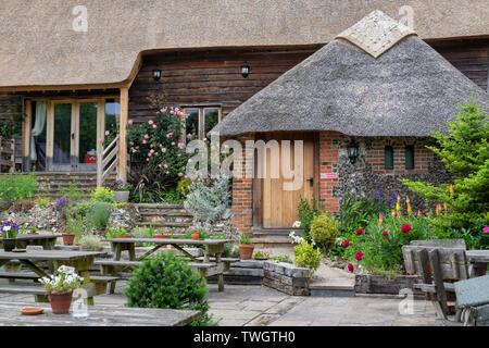 Il Crown Inn, Pishill, Oxfordshire, Inghilterra. Immagini Stock