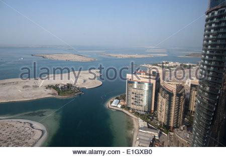Vista di Abu Dhabi, Emirati Arabi Uniti Immagini Stock