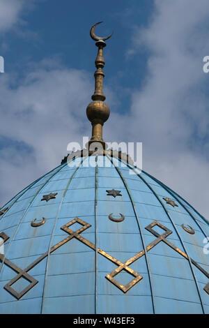 La cupola della moschea Mukhtarov decorata con la stella ebraica di Davide di Vladikavkaz la città capitale della Repubblica del Nord Ossetia-Alania nel Nord Caucaso Distretto federale della Russia. Immagini Stock
