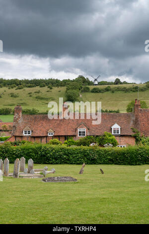 Turville villaggio in Chilterns. Buckinghamshire, Inghilterra Immagini Stock