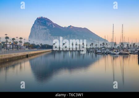 Gibilterra, vista della Rocca di Gibilterra Immagini Stock