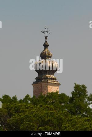 In alto di una vecchia chiesa, regione Veneto, Venezia, Italia Immagini Stock