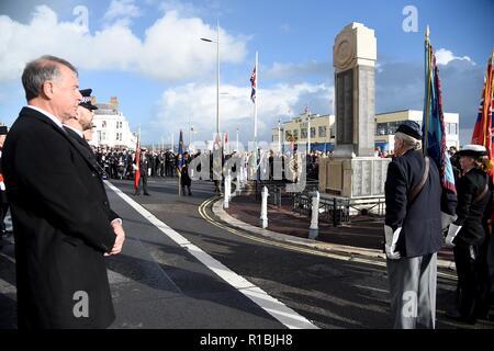 Weymouth Dorset, Regno Unito. Xi Nov, 2018. Ricordo che il servizio domenicale e corteo di Weymouth Dorset, UK Credit: Finnbarr Webster/Alamy Live News Immagini Stock