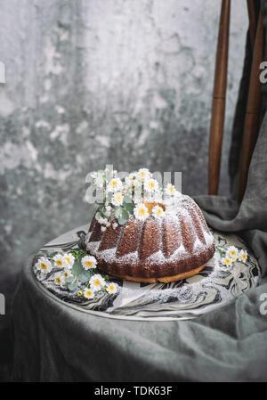 Limone Torta di ricotta Immagini Stock