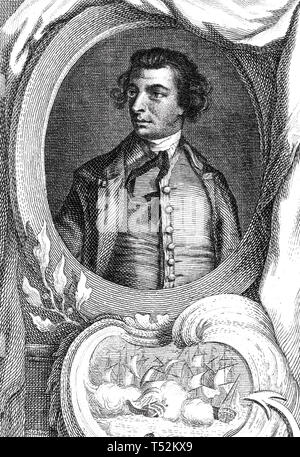 AUGUSTUS KEPPEL, primo Visconte Keppel (1725-1786) Royal Navy officer e MP Immagini Stock