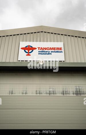 Il militare Tangmere Aviation Museum è un museo situato sul vecchio sito di RAF Tangmere, West Sussex. Il museo è stato aperto nel Giugno 1982. RAF Tan Immagini Stock