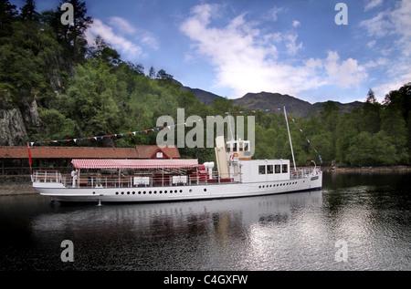 Sir Walter Scott, piroscafo, Loch Katrine, Scozia Immagini Stock