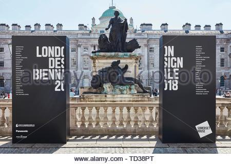 Segno di ingresso. London Design Biennale 2018, Londra, Regno Unito. Architetto: Vari , 2019. Immagini Stock