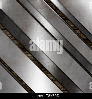 Abstract texture metallica sfondo su un vecchio sfondo di legno Immagini Stock