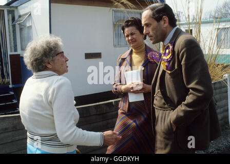Jeremy Thorpe MP con costituente e moglie Marion 1979 Devon UK HOMER SYKES Immagini Stock