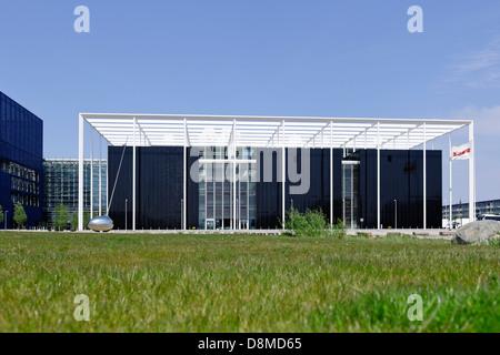 Architettura moderna, Ørestad, isola di Amager, a Copenaghen, Danimarca Immagini Stock