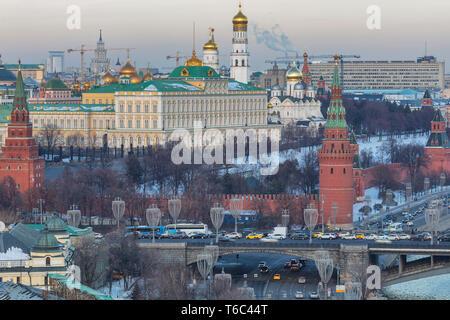Paesaggio urbano, il Cremlino di Mosca, Russia Immagini Stock