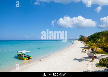 Long Bay, Negril, Westmoreland, Giamaica Immagini Stock
