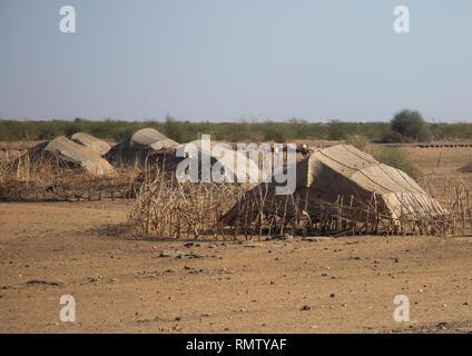 Beja tradizionale villaggio di tribù, Stato di Kassala, Kassala, Sudan Immagini Stock