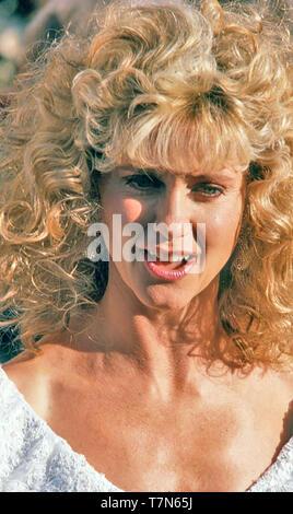 OLIVIA NEWTON-JOHN English-Australian cantante e attrice cinematografica nel 1989 Immagini Stock