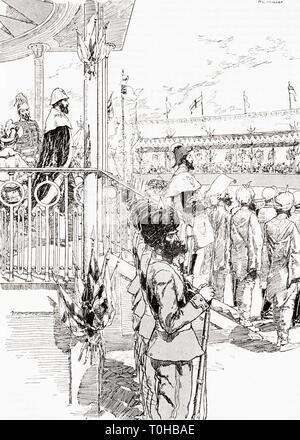 Viceré di India, Robert Bulwer Lytton, Delhi, 1877 Immagini Stock