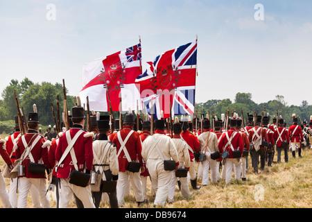 Canada,Ontario,Niagara sul lago, Fort George National Historic Park, 1812 rievocazione Immagini Stock