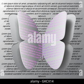 Concetto di origami butterfly tagliare la carta, backgroun astratto Immagini Stock