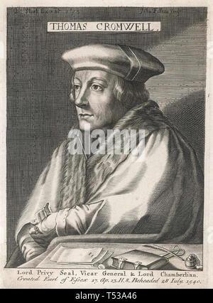 THOMAS CROMWELL (c) 1485-1540 avvocato inglese e più sotto Enrico VIII Immagini Stock