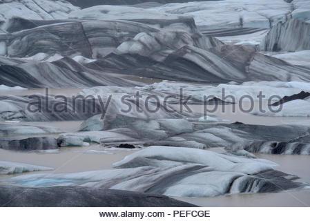 Un braccio del Vatnajokull Campo di ghiaccio. Immagini Stock