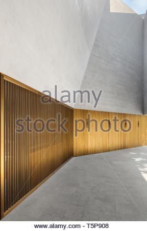 Dettaglio in bronzo all'entrata. Nuovo Teatro di Shanghai, Shanghai, Cina. Architetto: Neri&Hu, 2017. Immagini Stock