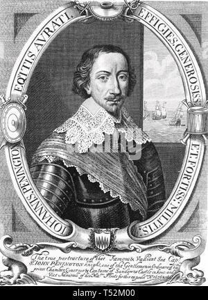 JOHN PENNINGTON (1584?-1646) ammiraglio inglese Immagini Stock