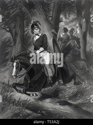 FRANCIS MARION (c) 1732-1795 esercito americano officer noto come la palude Fox Immagini Stock