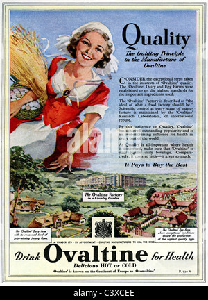 Pubblicità per Ovaltine, dal Festival della Gran Bretagna guida, pubblicato da HMSO. Londra, UK, 1951 Immagini Stock