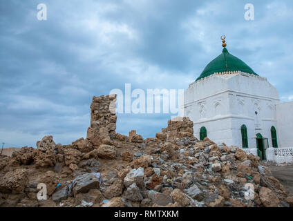 La moschea El-Geyf, Mar Rosso Stato, Suakin, Sudan Immagini Stock