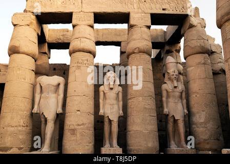 Tempio di Luxor Luxor Egitto Immagini Stock