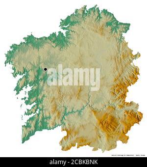 Cartina Spagna Galizia.La Galizia Spagna Mappa Di Sfiato Foto Stock Alamy