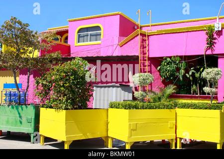 Mazatlan colorato Cruise Port edifici di ricezione Immagini Stock