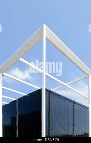 Architettura moderna, quartiere universitario, Oerestad, Amager, Copenaghen, Danimarca, Europa Immagini Stock