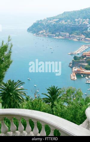 Monaco vista costiera da sopra Immagini Stock
