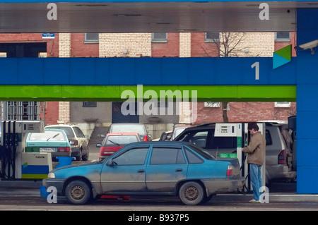 Neste gas station Immagini Stock