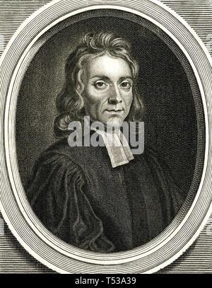JOHN KETTLEWELL (1653-1695) ecclesiastico inglese e scrittore devozionali Immagini Stock