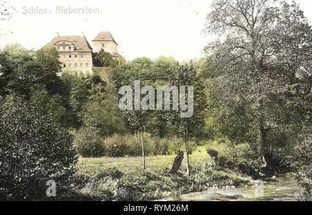 Schloss Bieberstein (Sachsen), 1906 Landkreis Mittelsachsen, Bieberstein, Schloß, Germania Immagini Stock