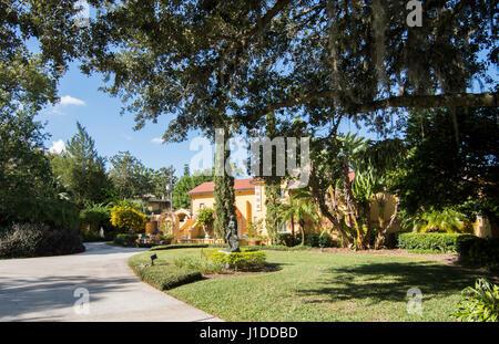 Winter Park Florida Polasek Museo di Albin Polasek ceca Scultore Americano ingresso del paesaggio Immagini Stock